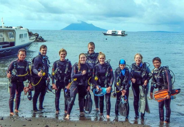 The Family after finishing the PADI Open Water Course