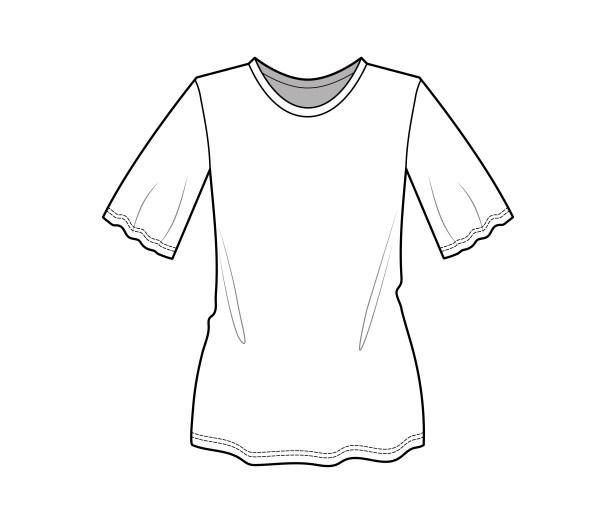 rysunek do produkcji odzieży