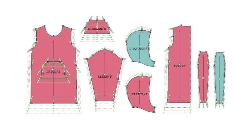 program do konstrukcji odzieżowych do szablonów