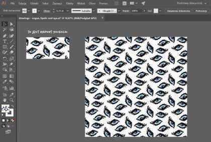 opracowanie wzoru do druku na tkaninie