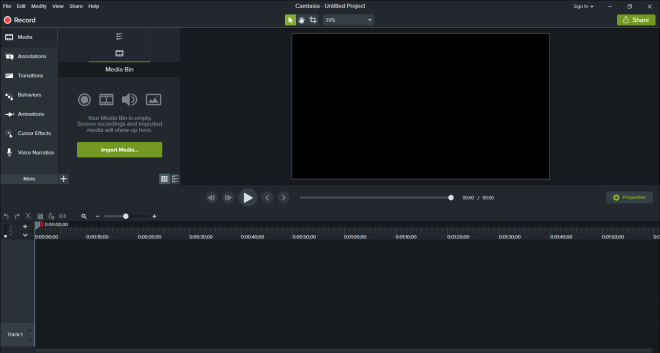 Start a Screen Recording with Camtasia