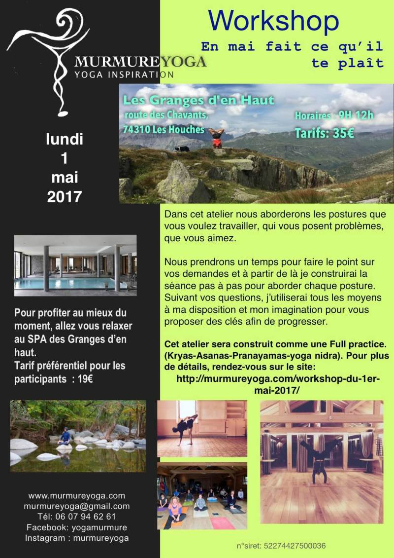 workshop le 1er mai 2017
