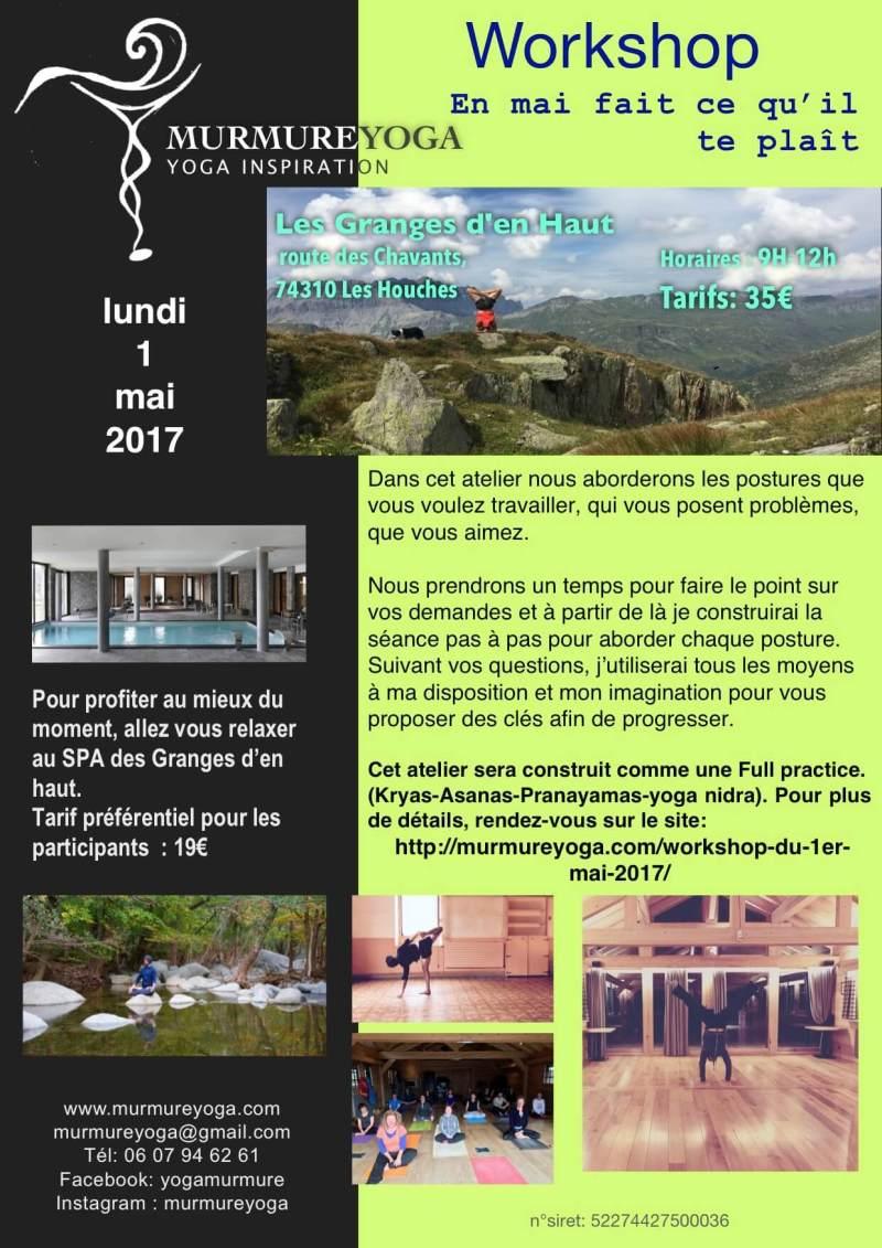 workshop le 1er mai 2017