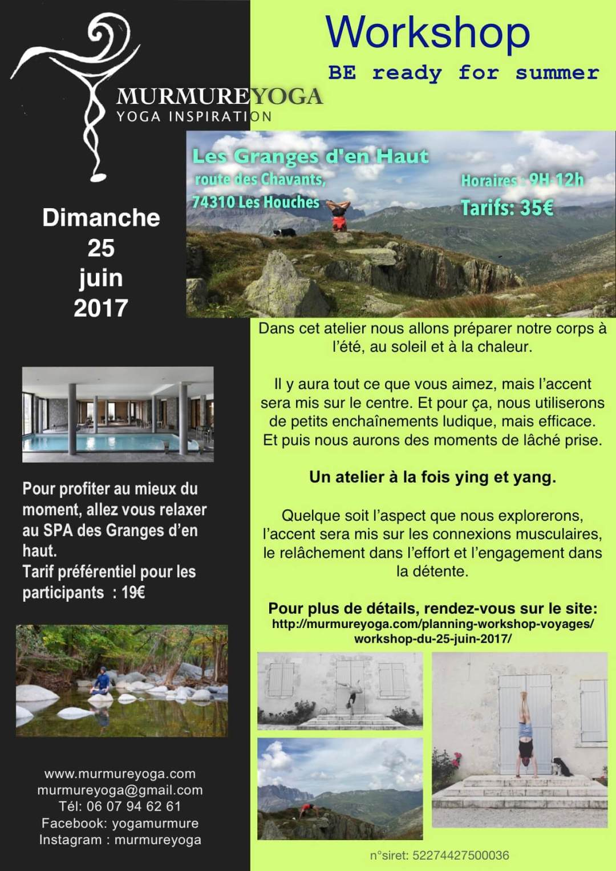 workshop le 25 juin 2017