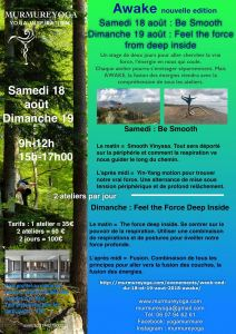 week-end trainning 14-15 juillet 2018