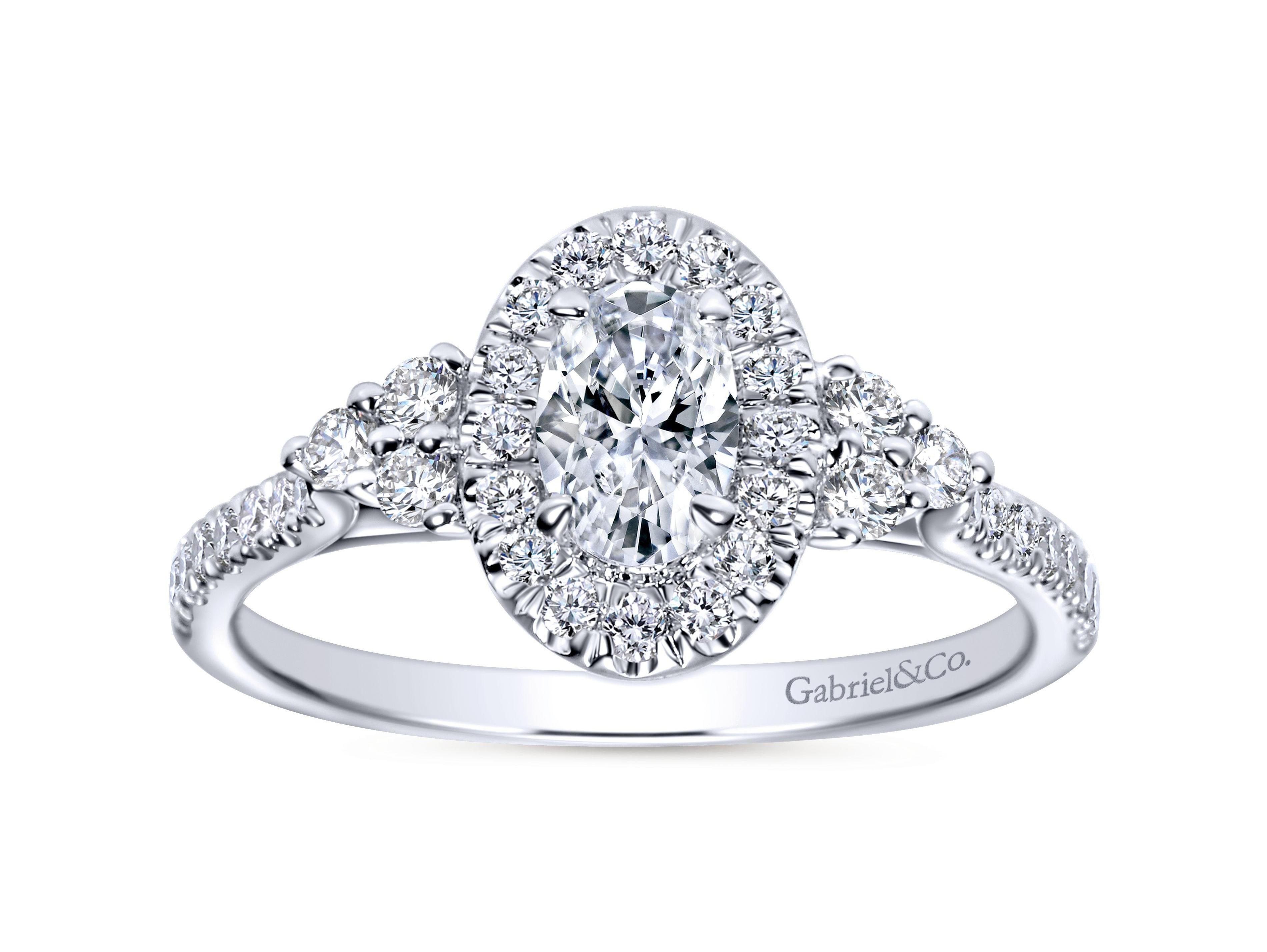 Gabriel Amp Co Oval Engagement Ring Murphy Jewelers