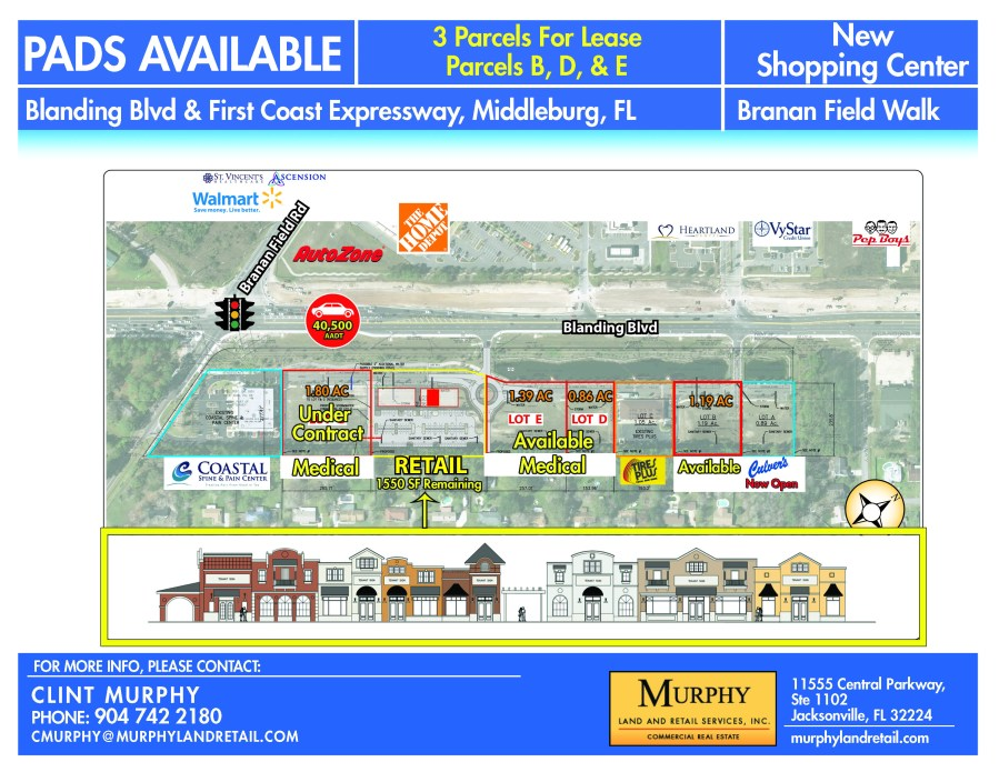 Blanding Blvd & First Coast Expy FL For Lease