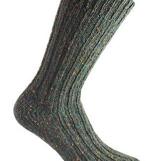 Donegal Tweed Sock - Dark Green