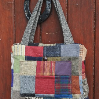 Joyce Donegal Tweed Patchwork Purse