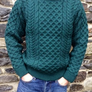 Legacy Aran Sweater Moss Green