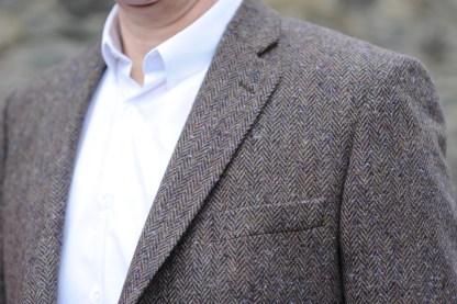 Ballyclare Herringbone Donegal Tweed Jacket detail