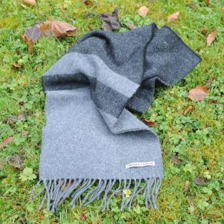 Slate Grey Herringbone Scarf
