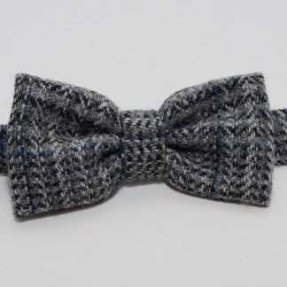 Donegal Tweed Bow Houndstooth Grey
