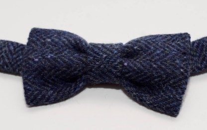 Donegal Tweed Herringbone Bow Blue