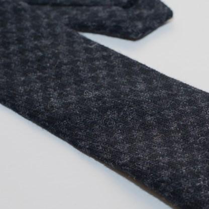 Donegal Tweed Tie Slate Grey Check