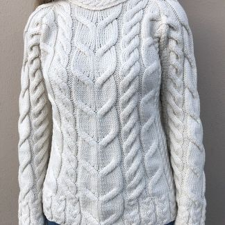 Glendowan Ladies Aran Sweater - Cream