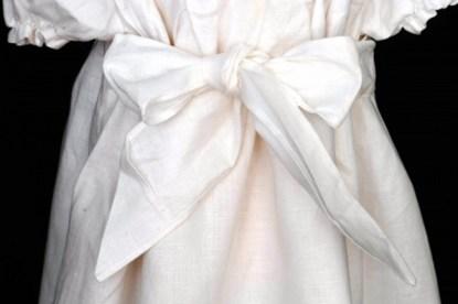 Classic Irish Linen Christening Robe detail