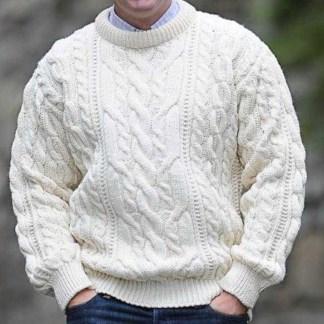 Definitive Aran Sweater Cable Stitch Natural