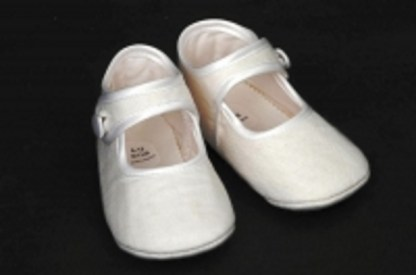 Irish Linen Christening Little Lady Shoes
