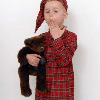 Childrens Tartan Irish Nightshirt and Cap Royal Stewart