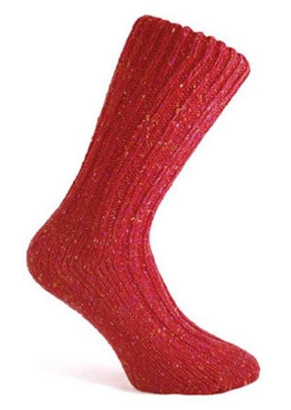 Donegal Tweed Sock Burgundy