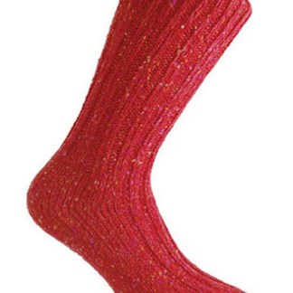 Donegal Tweed Sock Burgundy