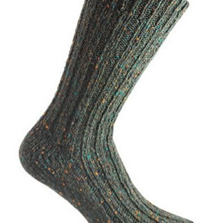 Donegal Tweed Sock Dark Green