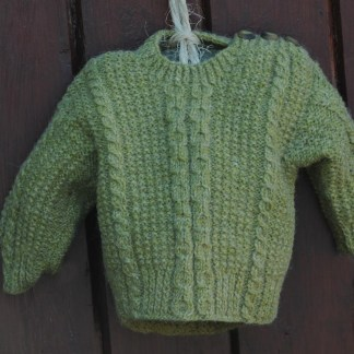 Handknit Alpacha Wool Sweater Celtic Green