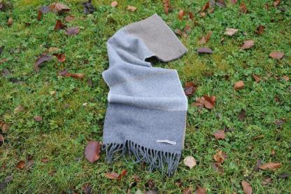 Ash Herringbone Tweed Scarf