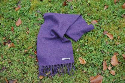 Purple Heather Tweed Scarf