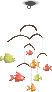 baby mobile, toy, fish