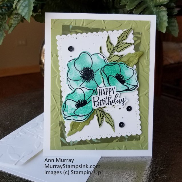 Card using Painted Poppies Bundle stamped in Coastal Cabana ink