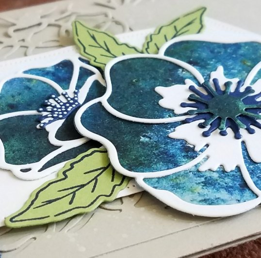 Blue Poppy Layers with 3 leaves