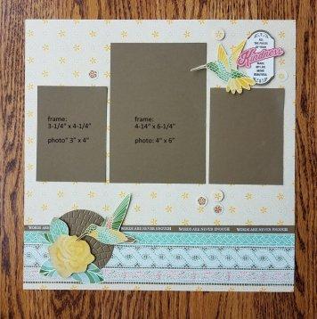 3 photo scrapbook page
