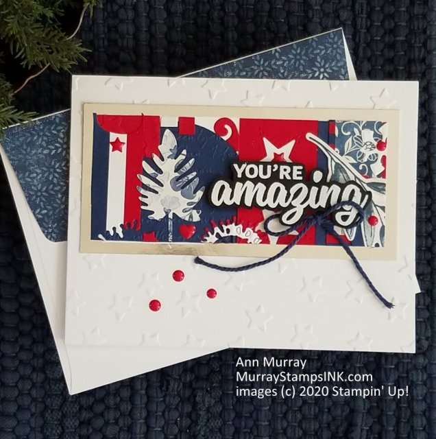 Red white and blue scraps