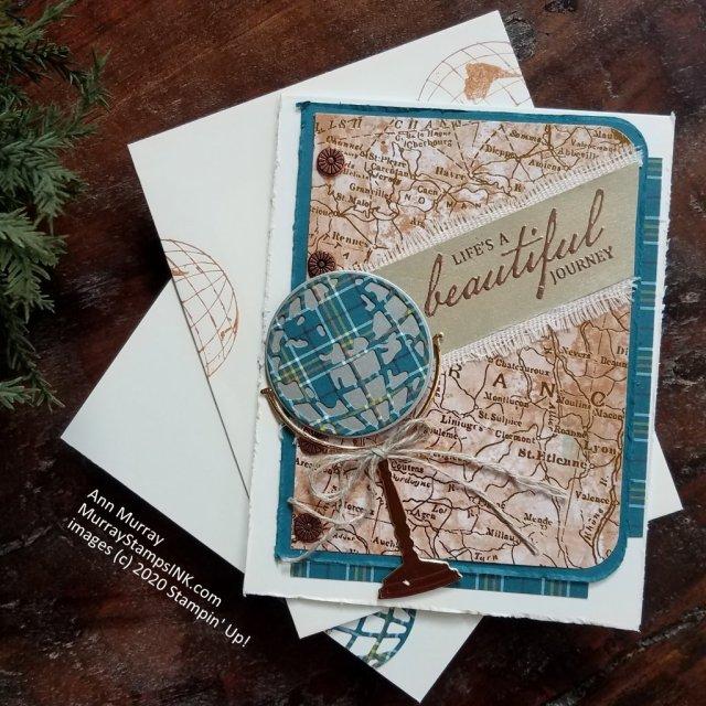 Globe on map print
