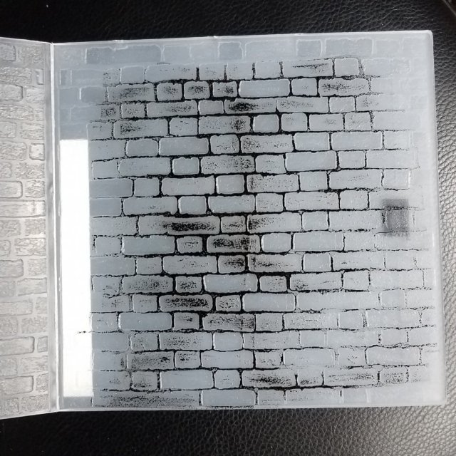 inking an embossing folder