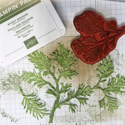 create texture boughs with stamp