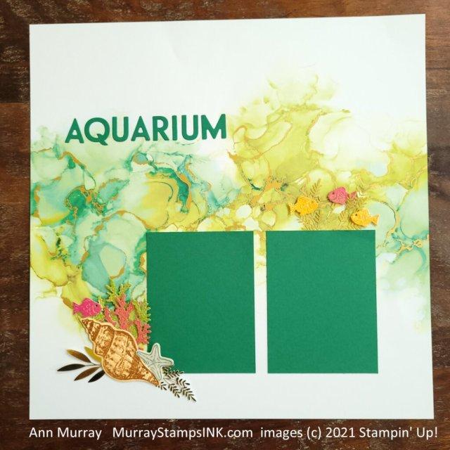 Aquarium Scrapbook pages