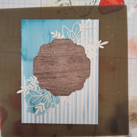 layered background with texture embossed pieces
