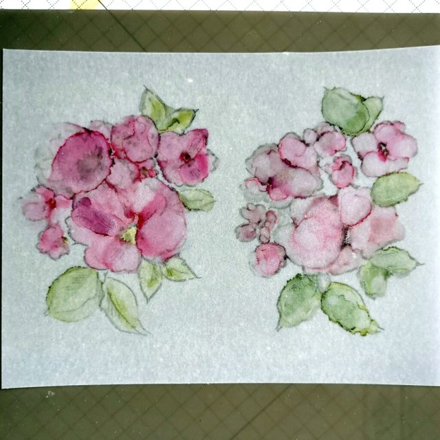 STEP 3 - alcohol ink painting