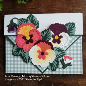 fold up the corners of the card front to create a pocket