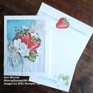 Sweet Strawberry card with customized clusters and layers