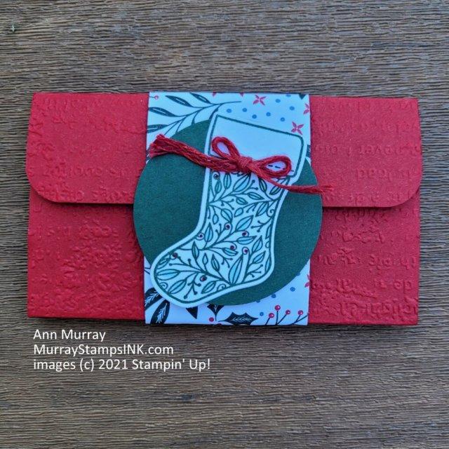 front of pop up gift card holder