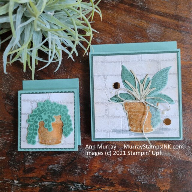 sticky post-it note covers using a plant theme