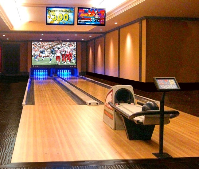 Home Bowling Alley for Hilton President