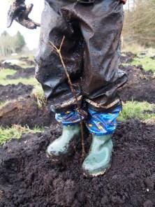 My eldest enjoying getting muddy