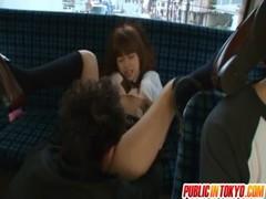 瑠川リナが痴漢に遭ってしまうエックスびデお 日本人