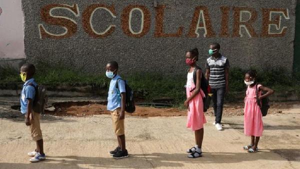 File photo of school kids observing COVID protocols