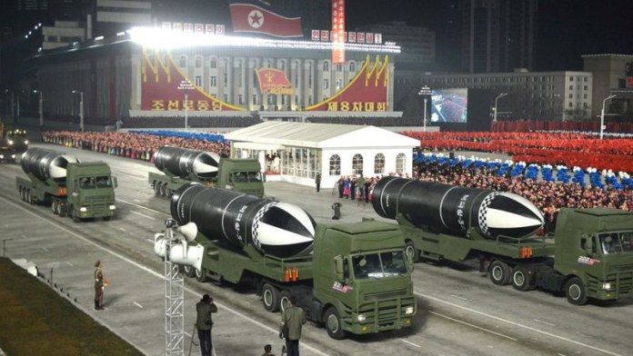 """North Korea unveils new submarine-launched missile called """"the world"""